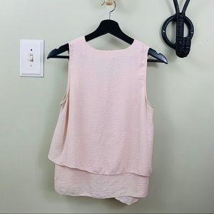 H&M | Pale Pink Textured Layered Tank Top